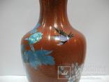 Большая Ваза Клуазоне ( Старый Китай ) 30 см., фото №6