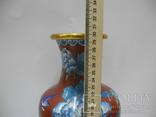Большая Ваза Клуазоне ( Старый Китай ) 30 см., фото №12
