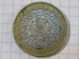 Великобритания 2 фунта, 2000, фото №2