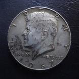 50  центов 1967  США серебро     (Ч.4.5)~, фото №2