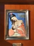 """Копия Пикассо """"Материнство"""",серебро,эмаль,сертификат."""