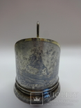 Подстаканник серебро 875 Медный всадник памятник Петру I чернение