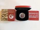 Год Дракона. Серебро 0.5 унций. Цветная эмаль. Австралия 2012.