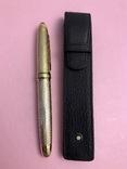 Ручка-роллер в кожаном чехле