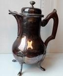 "Кофейник ""эгоист"" на 400 мл, серебро, 340 грамм, Франция"