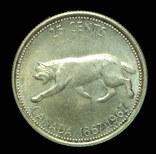 Канада 25 центов 1967 Unc серебро