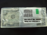 2 доллара США 2013 г UNC 1000 банкнот номера подряд штат NEW YORK photo 2