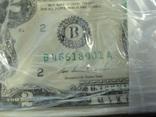 2 доллара США 2013 г UNC 1000 банкнот номера подряд штат NEW YORK photo 3