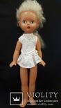 Пластмассовая кукла на резинках 44 см. Клеймо., фото №2