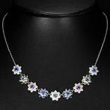 Ожерелье с натуральными танзанитами, фото №2