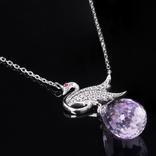 Ожерелье с крупным аметистом, фото №3