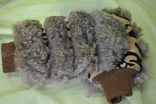 Варежки женские натуральный мех