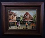 Картина пейзаж город масло J. Kok сертификат Голландия
