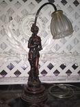 Лампа настольная светильник Девушка металл, фото №4