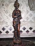 Лампа настольная светильник Девушка металл, фото №9