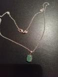 Ожерелье с изумрудом, фото №2