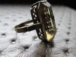 Кольцо серебро раухтопаз (кварц) СССР 875 проба