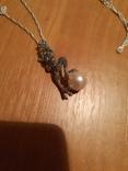 Ожерелье с жемчужиной и марказитами, фото №2