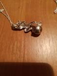 Ожерелье с жемчужиной и марказитами, фото №3