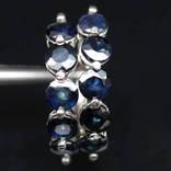Серьги-кольца с натуральными сапфирами, фото №2