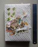 Блокнот ручной работы с нелинованными состаренными страницами -Осенний уют- 115 листов, фото №3