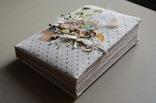 Блокнот ручной работы с нелинованными состаренными страницами -Осенний уют- 115 листов, фото №4