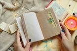 Блокнот ручной работы с нелинованными состаренными страницами -Осенний уют- 115 листов, фото №12