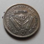 3 пенса 1937 Африка    (Н.23.6)~, фото №3