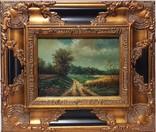 Картина пейзаж масло подпись F.Just