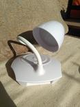 Настольная лампа «Трансформер» сенсорная с плафоном, на 18650 аккумуляторе или USB.