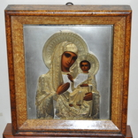 Икона Божией Матери,оклад серебро 84 пр. photo 1