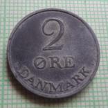 2 эре 1961  Дания    (Р.1.21)~, фото №2