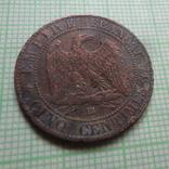 5 сантим 1861  Франция     (Р.2.6)~, фото №3