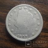 5 центов 1907 США   (лот 4.4)~, фото №3