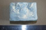 Мыло авторской ручной работы -Замерзший ручей- с ароматом лаванды и лимона 110 г, фото №4