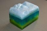 Мыло авторской ручной работы -Замерзший ручей- с ароматом лаванды и лимона 110 г, фото №5