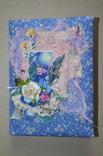 Блокнот ручной работы с нелинованными состаренными страницами -Цветочный- 100 листов, фото №3