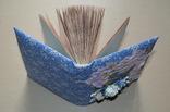 Блокнот ручной работы с нелинованными состаренными страницами -Цветочный- 100 листов, фото №10