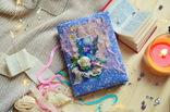 Блокнот ручной работы с нелинованными состаренными страницами -Цветочный- 100 листов, фото №12