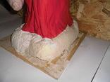 Дедушка мороз - возраст 48 лет, из СССР, 72 см.,прессопилки, на реставрацию, фото №7