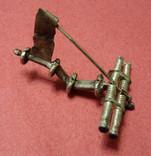 Серебряная фибула № д013 photo 3