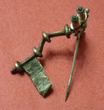 Серебряная фибула № д013 photo 4