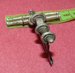 Серебряная фибула № д013 photo 6