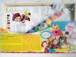 Набор для творчести (полотно,раскраски,краски,кисти) 31х21 см 4