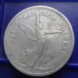 5 злотых 1928 Ника Польша серебро (1.3.14)~ photo 3