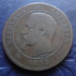 10 сантим 1855 Франция   (1.4.2)~, фото №4