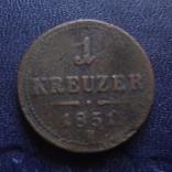 1 крейцер 1851 В Австро-Венгрия   (1.2.5)~, фото №3