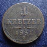 1 крейцер 1851 В Австро-Венгрия   (1.2.5)~, фото №2