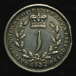 Эссекуибо и Демерара гульдер 1832 серебро photo 4