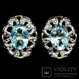 Серьги с топазами и бриллиантами, фото №2